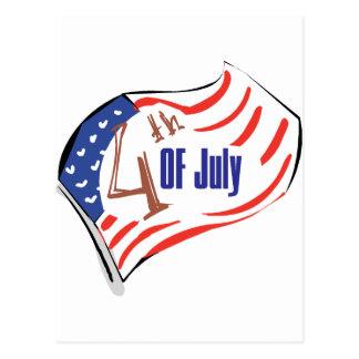 4th of July American Flag Postcard