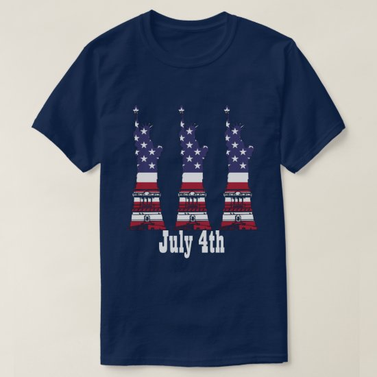 4th of July, American Flag Statue of Liberty Shirt
