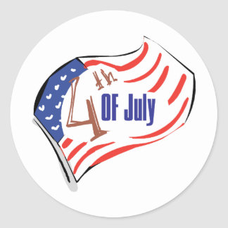 4th of July American Flag Sticker