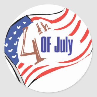 4th of July American Flag Stickers