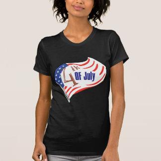 4th of July American Flag Tee Shirt