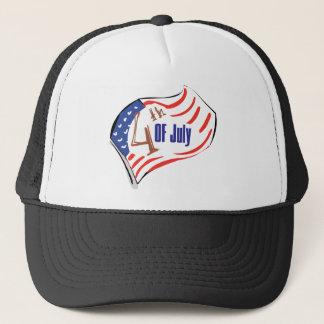 4th of July American Flag Trucker Hat