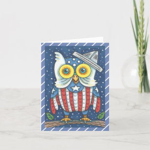 Independence day owl cards zazzle 4th of july american owl note card blank m4hsunfo