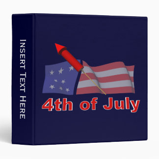 4th of July Avery Binder