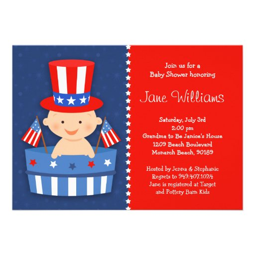 """May The Fourth Be With You Baby Shower: 4th Of July Baby Shower Invitation 5"""" X 7"""" Invitation Card"""