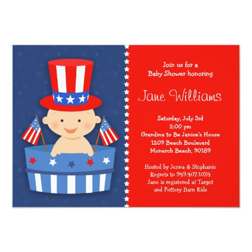 May The Fourth Be With You Baby Shower: 4th Of July Baby Shower Invitation
