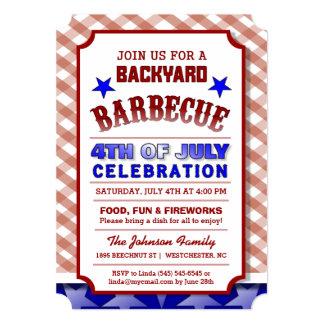 4th of July Backyard BBQ Celebration Festive Card