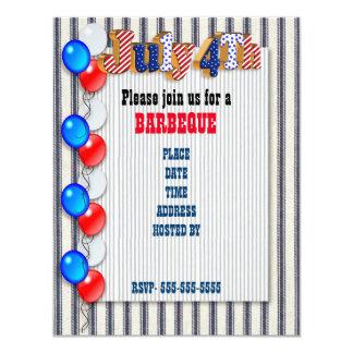 4th of July Barbecue invitation