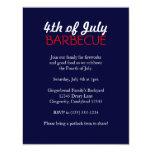 """4th of July Barbecue Invitation 4.25"""" X 5.5"""" Invitation Card"""