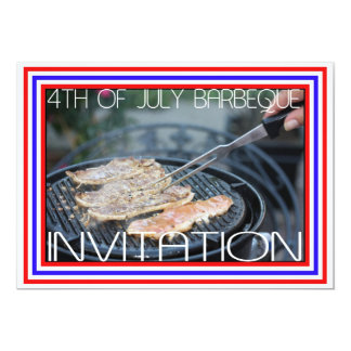 4th of July barbeque invitation