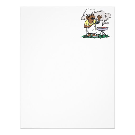 4th Of July Barbeque Letterhead