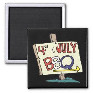 4th Of July Barbeque Magnet