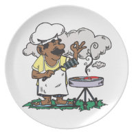 4th Of July Barbeque Party Plate