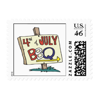 4th Of July Barbeque Stamps