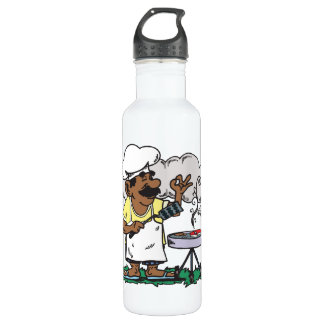 4th Of July Barbeque Stainless Steel Water Bottle