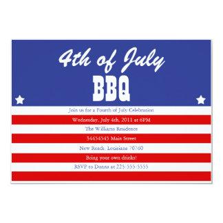4th Of July BBQ 5x7 Paper Invitation Card