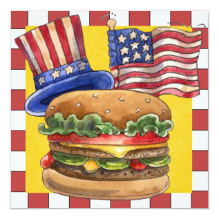 4th Of July Bbq Cook Out ! Srf Card at Zazzle