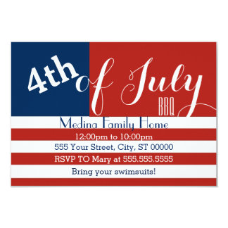 4th of July BBQ Invites
