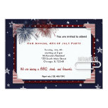 4th of July BBQ Party 5x7 Paper Invitation Card