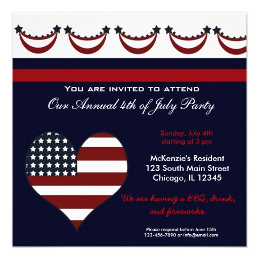 4th of July BBQ Party Announcements