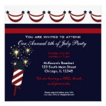4th of July BBQ Party Custom Invite
