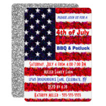 4th of July BBQ & Potluck Card