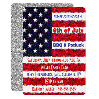 4th of July BBQ & Potluck Invitation