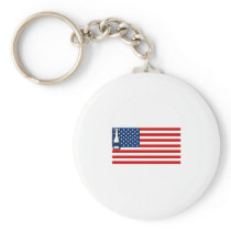 4th of July Beer Drinking Party Flag For Men Women Keychain