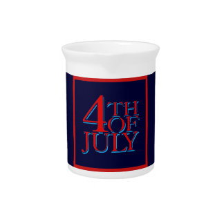4th of July - Beverage Pitcher