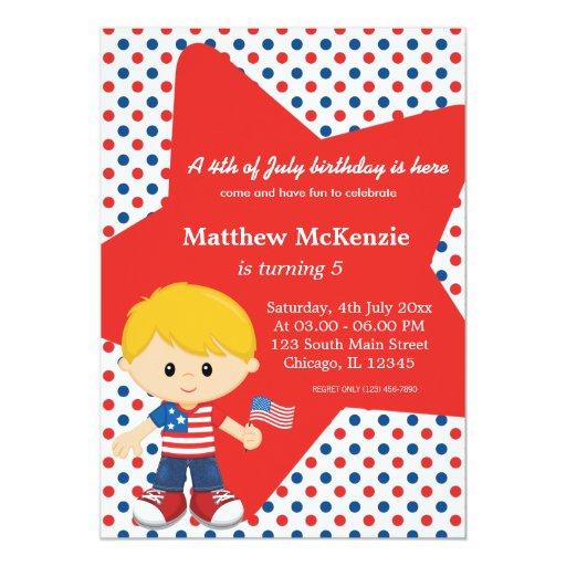 4th Of July Birthday Boy Card