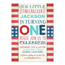 4th of July Birthday invitation independence day