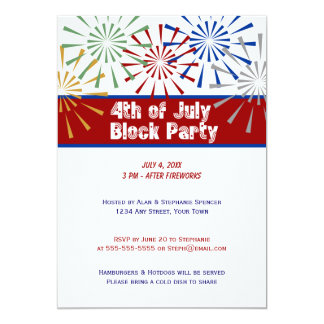 4th of July Block Party Invitation