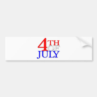4th Of July Bumper Stickers