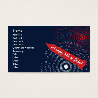 4th of July - Business Business Card