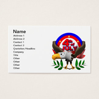 4th Of July Business Card