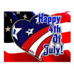 4th of July by Mojisola A Gbadamosi Okubule Design Post Cards