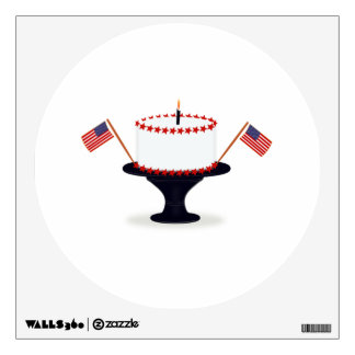 4th of July Cake Wall Decal