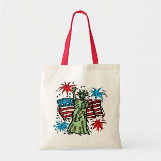 4th of July Canvas Bag: Lady Liberty Tote Bag