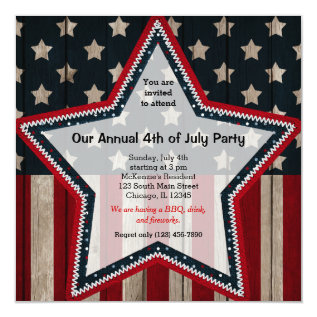 4th Of July Card at Zazzle