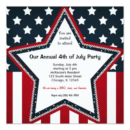 top 50 4th of july invitations holiday greeting card