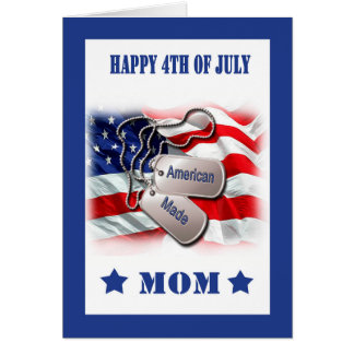4th of July Card for Military Mom