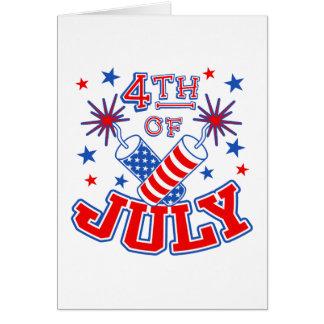 4th of July Card Invitation