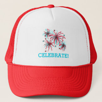 4th of July Celebrate Fireworks Patriotic Hat