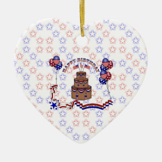 4th of July Celebration Ceramic Ornament