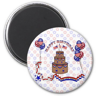 4th of July Celebration 2 Inch Round Magnet