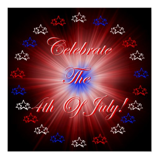 4th Of July Celebration! Print