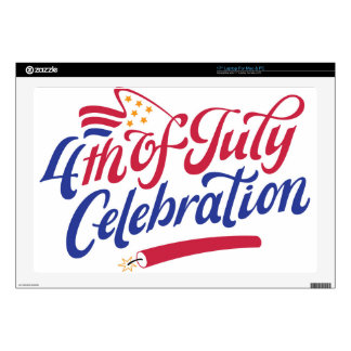 4th Of July Celebration Skins For Laptops