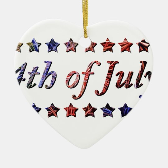 4th of July Ceramic Ornament