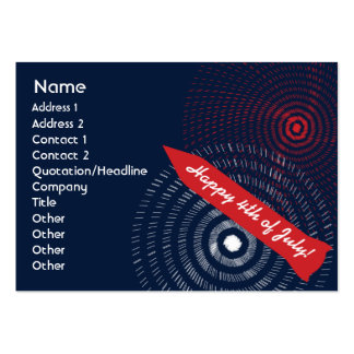 4th of July - Chubby Large Business Cards (Pack Of 100)
