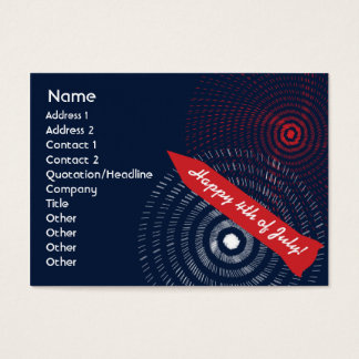 4th of July - Chubby Business Card